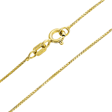 box chain link 1 mm thin 10 gauge necklace for women 14k gold plated 925 sterling
