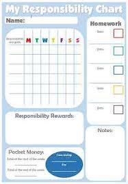 Personalised Pocket Money Reward Chart Made To Suit Your