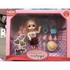Đô chơi búp bê nga trọn bộ cho bé, búp bê bé gái xinh xắn trọn bộ