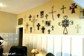 cross wall decor crosses decorative decorating rustic wooden wal