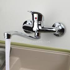 Small Picture Classic Single Handle Two Holes Wall Mounted Kitchen Faucet