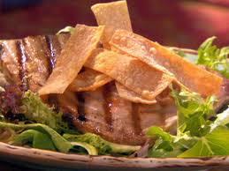 seared tuna with lemon wasabi dressing and hot mustard wonton chips recipe robin miller food network
