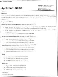 Free Blank Resume Templates Download Free Blank Resume Templates Download Blank Resume Templates For