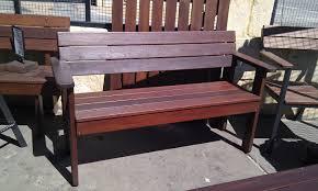 outdoor furniture garden bench seat jarrah timber hand made
