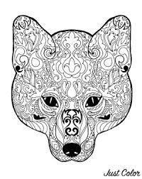 ✓ free for commercial use ✓ high quality images. Fox Head Coloring Sheets