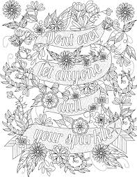 Beautiful Quote Coloring Pages For Adults Coloringstar