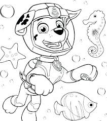Coloring Pages Paw Patrol Zuma Paw Patrol Rocky Coloring Pages Of