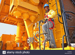 portrait of zambian mining employee hard working man hard portrait of zambian mining employee hard working man hard hat stock photo