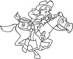 Cowboy Coloring Pages For Kids Printable Bltidm