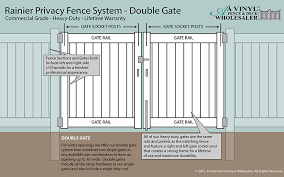 vinyl fence double gate. Heavy Duty Matching Double Gates: Vinyl Fence Gate