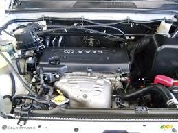 2001 Toyota Highlander Standard Highlander Model 2.4 Liter DOHC 16 ...