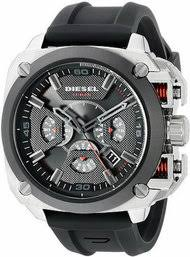 brand new and authentic designer watches for men on diesel bamf timeframe aw 16 chronograph black rubber men watch dz7356