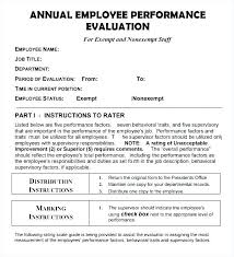 Job Evaluation Template Inspiration Employee Expectations Template Drsclinicco