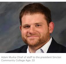 """Dr. Steve Johnson on Twitter: """"Congratulations to @SinclairCC Adam Murka,  recognized today as among """"40 Under 40"""" - a key player in moving Sinclair  forward - is a proud Brookville Blue Devil,"""
