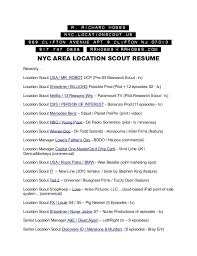 Resume 2017 Best Resume Of Location Scout R Richard Hobbs 2424