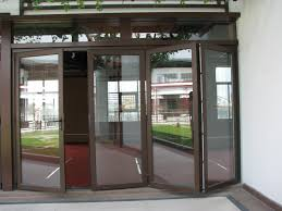 white stainless steel frame patio door with glass panel combined with white painted