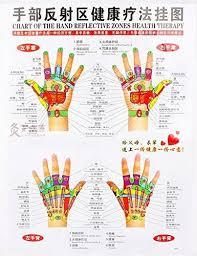 Hand Chart Amazon Com Chinese English Chart Of Hand Reflective Zones