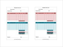 Printable Weekly Time Cards 11 Printable Time Card Templates Doc Excel Pdf Free