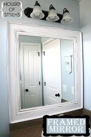 diy framed mirror tutorial the house
