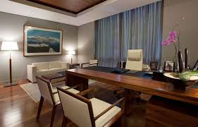 beautiful design ideas of home office interior with rectangle shape brown wooden office table and white astonishing home office interior design ideas