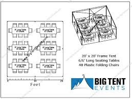 Tent Seating Chart Big Tent Events Frame Tent Rental Weddings Party Rentals