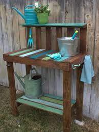 make a garden potting bench