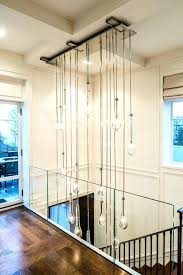 modern foyer chandelier chandeliers hall contemporary with cascading clear shade dramatic crystal chandel