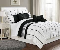 glamorous black and white striped bedding 2 hyerhandmade com