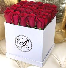 array of gifts luxury white flower box red roses houston texas delivery