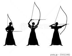 弓道のイラスト素材 35611982 Pixta