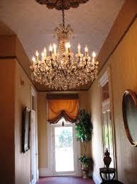 cornstalk hotel chandelier in hallway