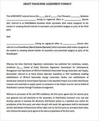Example Of Franchise 17 Sample Franchise Agreements Free Word Pdf Format Download