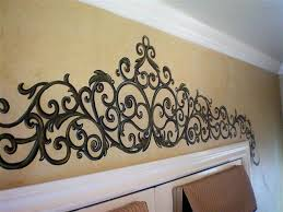 painted wrought iron over french doors