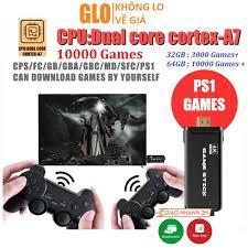 Máy Chơi Game Stick 4K 4 Nút HDMI Không Dây Hơn 3500-10000 Trò Chơi Cổ Điển  PS1/ATARI/MAME/SFC/FC/GBA/GB/GBC/MD - Đồ chơi phát nhạc và nhạc cụ