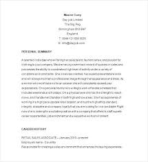 Retail Resumes Examples Retail Resume Samples Resume Examples For ...