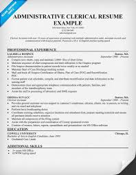 ... Administrative Clerical Sample Resume 10 Clerical Resume Examples  Templates ...