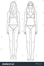 female body outline template female body template coles thecolossus co