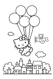 Small Picture hello kitty balloons coloring pagejpg 567850 Pinterest