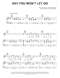 say you won t let go sheet music say you wont let go sheet music direct