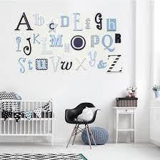 full a z wooden alphabet wall set