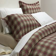 winton luxury brushed cotton duvet cover pillowcase set red check