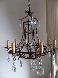 captivating vintage wrought iron chandelier dscn