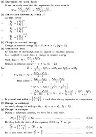 Thermodynamic Processes Chart Thermodynamic Processes And Equations