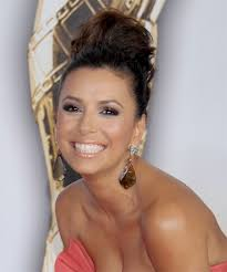 eva longoria parker updo long curly formal wedding updo dark brunette auburn