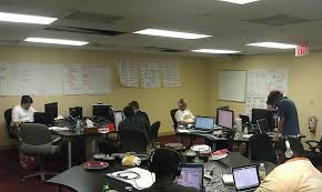 developer office. developer war room closing project knetik longwood fl office