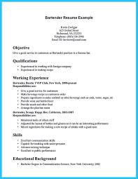 Bartender Resume Template Internet Offers Various Bartender Resume