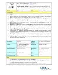 Office Manager Job Description Samples Magdalene Project Org