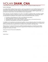 Cover Letter Livecareer Best Nursing Aide And Assistant Cover Letter Examples Livecareer