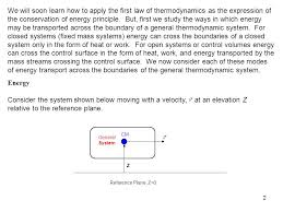 Chapter 2 Energy, Energy Transfer, and General Energy Analysis Study ...