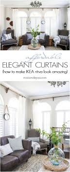Diy Curtain Rods Top 25 Best White Curtain Rod Ideas On Pinterest White Curtains